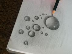 3d draw water drop