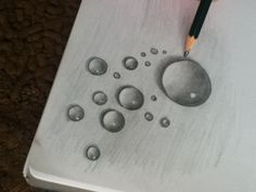 3d draw water drop