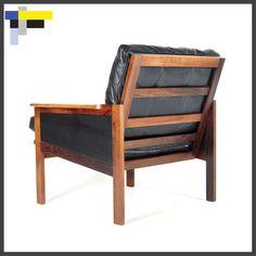Retro Danish Modern Rosewood Leather Illum Wikkelso Lounge Chair Armchair 1970s | eBay