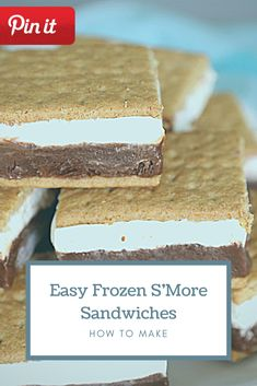 Easy Frozen S'More Sandwiches Gourmet Sandwiches, Sandwich Bar, Party Sandwiches, Bagels Sandwich, Sandwich Ideas, Home Made Cookies Recipe, Paleo Cookie Recipe, Delicious Cookie Recipes, Dessert Recipes