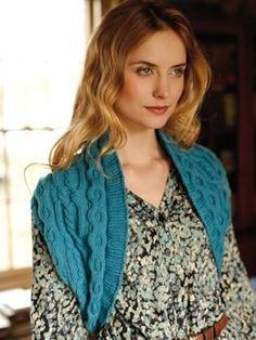 Knit this womens cable shrug from City Knits. A design by Lisa Richardson using Belle Organic Aran, a gorgeous yarn with a rich colour palette made up of 50% organic wool and 50% organic cotton. This knitting pattern is suitable for intermediate knitters.