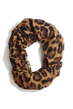Leopard-Print Infinity Scarf | GUESS.com