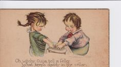 Handout/From the collection of the Talking Board Historical Society 1920s Ruth Welch Silver Ouija postcard.