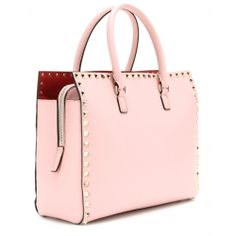 BAGSESSED - Home - Valentino - Rockstud Leather Tote inRose