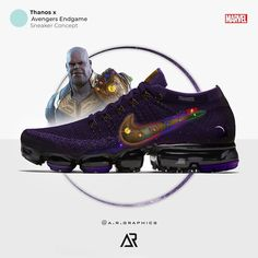 Custom Sneaker by a.graphics by Freelance Graphic DesignerAR™️ Marvel Shoes, Marvel Clothes, Batman Shoes, Custom Jordans, Custom Sneakers, New Marvel Characters, Sneaker Posters, Air Max Sneakers, Sneakers Nike