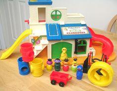 Vintage Fisher Price Sesame Street Clubhouse Set (2). $150.00, via Etsy.