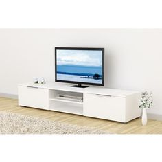 Shop for Match Mid-century White Wood TV Stand. Get free shipping at Overstock.com - Your Online Furniture Outlet Store! Get 5% in rewards with Club O!