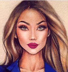 @makeupbyalinna by @iriskapirogova  Be Inspirational ❥ Mz. Manerz: Being well dressed is a beautiful form of confidence, happiness & politeness