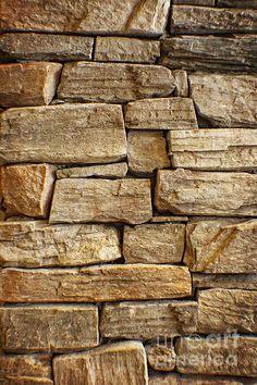 Title  Rustic Warm Stone Wall Art   Artist  Ella Kaye Dickey   Medium  Photograph - Photography