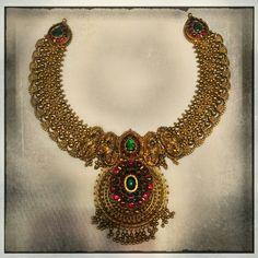 Antique temple necklace 92gms