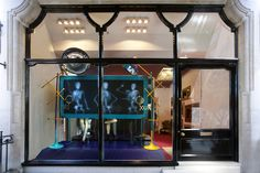 Adding to the fun in the London windows are pieces of jewellery created by British designers MichaelVan Der Ham and Holly Fulton, which also underwent the X-ray procedure and hang on jauntily arranged skeletons.