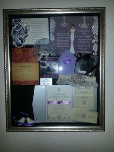 Wedding memory shadow box