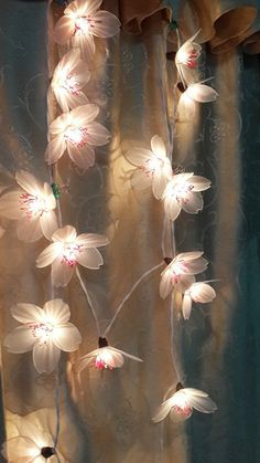 string lights flowers japanese apricot flowers 20 lighting party patio fairy decor wedding room garland