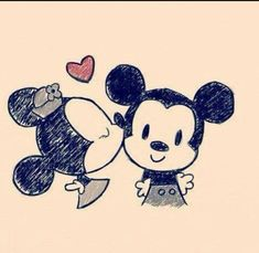 Drawing Mickey minnie mouse