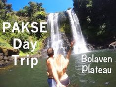 The Married Wanderers hire a motorbike from Pakse and day trip to the Bolaven Plateau in Laos. See their tips on the best waterfalls, coffee stops and places. Pakse, Laos Travel, Travel Couple, Day Trip, Gopro, Niagara Falls, Letting Go, Wander, Waterfall