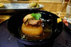 Daikon, veal tongue, foie gras... Mmmm #omakase at Octopus Garden