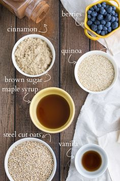 Breakfast -Overnight slow cooker quinoa and oats - so good and healthy! I via chelseasmessyapron I Slow Cooker Quinoa, Slow Cooker Recipes, Crockpot Recipes, Cooking Recipes, Healthy Recipes, Quoina Recipes, Crockpot Quinoa, Recipies, Breakfast Desayunos