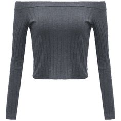 Women Long Sleeve Off Shoulder Pure Color Knitwear Shirt (195 ARS) ❤ liked on Polyvore featuring tops, shirts, grey, gray shirt, long-sleeve shirt, off shoulder shirt, off-the-shoulder tops and grey long sleeve shirt