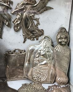 Sensational Napoli. Silver votive offerings . #sensational #napoli#naples #italy #travel #decor #decoration #decorative#design #detail#silver#offerings #chic #style #luxury #lifestyle #livingwithstyle #sensational #napoli#silver#offerings