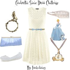 """Cinderella: Same Dress Challenge"" by invitedisney on Polyvore"