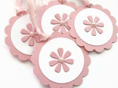Pink Baby Shower Favor Tags Baby Girl Gift by SassyScrapsCrafts