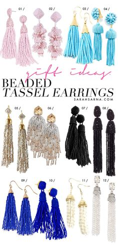 Beaded tassel earrings are stylish statement jewelry pieces that can be dressed up or dressed down, depending on the occasion.