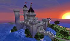 Tshara's castle | www.minecraft-projects.com/2014/07/tsharas-castle.html  #minecraft #castle #Tshara