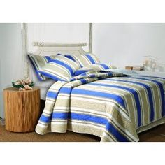 Greenland Home Fashions Cabana Stripe Twin 2-Piece Quilt Set :   Customer Discussions and Customer Reviews.