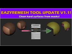 EaZyremesh Update - Clean Hard Surfaces from Masks in Zbrush! Francis Xavier, Zbrush Tutorial, Good Tutorials, Game Assets, Magazine Template, Surface, Cleaning, Tools, Make It Yourself