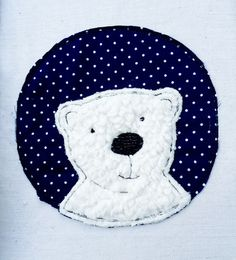 Embroidery designs - Polar Bear Button Doodle Embroidery File - a unique product by feinliebshop on Free Motion Embroidery, Machine Embroidery Patterns, Embroidery Files, Applique Designs, Embroidery Designs, Christmas Fair Ideas, Sewing Crafts, Sewing Projects, Pillow Embroidery