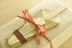 Japanese style chopstick gift wrapping!