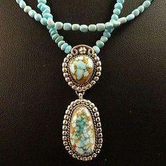 No 8 Turquoise Pendant  -*-*-bin1309