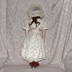 Barrois French Fashion Poupee Peau with Bisque Swivel Head and Glass from joan-lynetteantiquedolls on Ruby Lane