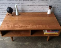 Etsy の Strickland Coffee Table in Solid Walnut by STORnewyork