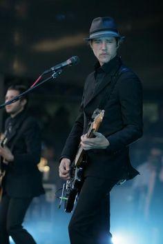 Paul Banks-suit, hat, guitar: perfect  Daniel Kessler- perfect as well