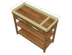 Woodworking With Sketchup Info: 6271160627 Changing Table With Drawers, White Changing Table, Baby Changing Tables, Diy Kids Furniture, Baby Room Furniture, Furniture Plans, Woodworking Projects That Sell, Diy Wood Projects, Popular Woodworking