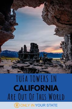 The Tufa Towers in Northern California look like something from another planet. Some call the towers an alien castle! Travel to this unique geologic formation on an ancient lake for a magical day trip or photography adventure. The pics are epic! Cool Places To Visit, Places To Travel, Places To Go, Lakes In California, Northern California Travel, Famous Beaches, Lake Water, Amazing Adventures, Travel Goals