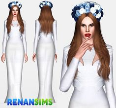 Hi guysI am preparing a new pack containing 20 clothes of Lana Del Rey!This is the first of her, and my favorite <3 BORN TO DIE.Lana Del Rey Born To Die - Renansims*Dress + Crown*DOWNLOAD