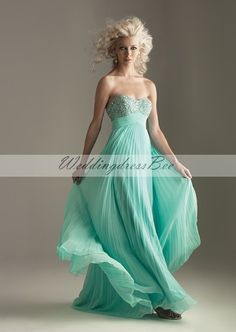 Sweetheart beading bodice A-line chiffon gown for girls