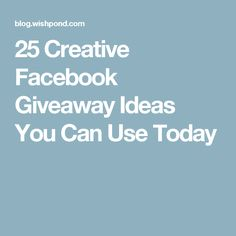 can you use mailchimp to run a facebook giveaway