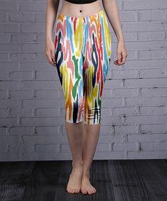 This White Abstract Stripe Capri Leggings - Women & Plus is perfect! #zulilyfinds