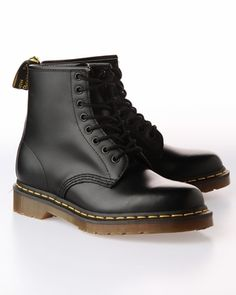 Dr. Martens 1460 8 Eye Smooth Leather Boot- Black