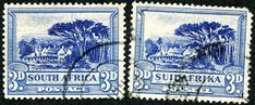 """1927 Scott brown & blue green """"Trekking"""" Into the Deep Blue The second post- Part II- for the Union of South Africa will c. Union Of South Africa, Two By Two, Stamps, Big, Cards, Seals, Maps, Postage Stamps, Stamp"""