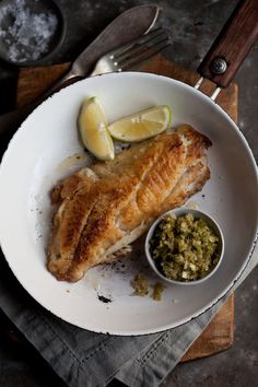 Pan Fried Fish with Ginger Lime Sauce