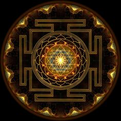 This sacred symbol is mounted on a high-quality glass gem. The Sri Yantra is one of the most powerful Yantras in the world symbolizing the creation of the Universe. Enhance your abundance with the pow Hindu Symbols, Sacred Symbols, Sacred Art, Indian Symbols, Geometry Art, Sacred Geometry, Yoga Symbole, Motif Oriental, Spiritus
