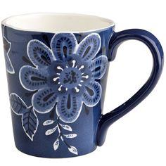 Indigo Floral Mug