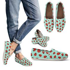 10098cc68be6 Lady bug Pattern Casual Shoes Espadrilles