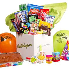 Birthday Bash- $45.00    Send your loved one a birthday gift so grand they won't be able to curb their excitement! No birthday is complete without confetti and sprinkles- wish your lucky recipient a Happy Birthday in a big way with this Birthday Bash Care Package! This package includes everything a party animal needs to turn any celebration into a BLAST!