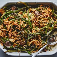 BA's Best Green Bean Casserole - Thanksgiving - You can make your own fried shallots or onions, but French's are astonishingly delicious and practically define this green bean casserole recipe (and you can find them at pretty much any grocery store). Thanksgiving Green Beans, Thanksgiving Vegetables, Best Thanksgiving Recipes, Vegetarian Thanksgiving, Holiday Recipes, Thanksgiving Menu, Holiday Ideas, Holiday Foods, Fall Recipes