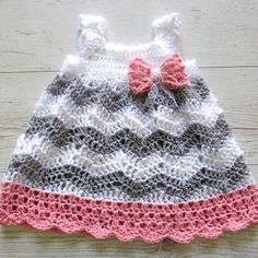 Crocheted Pattern baby dress, pinafore, jumper on CrochetSquare.com